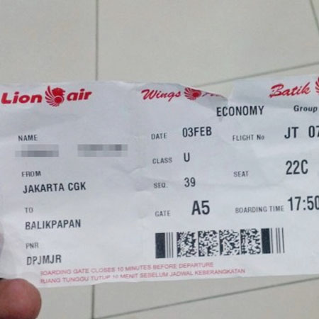 Gambar Tiket Pesawat Lion Air 2018