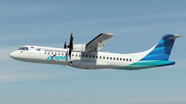 Pesawat ATR 72-600 milik Garuda Indonesia