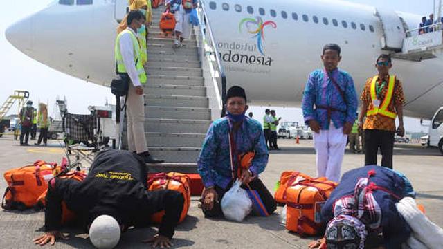 Jemaah Haji tiba di tanah air
