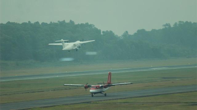 Kabut asap di Kalimantan ganggu penerbangan