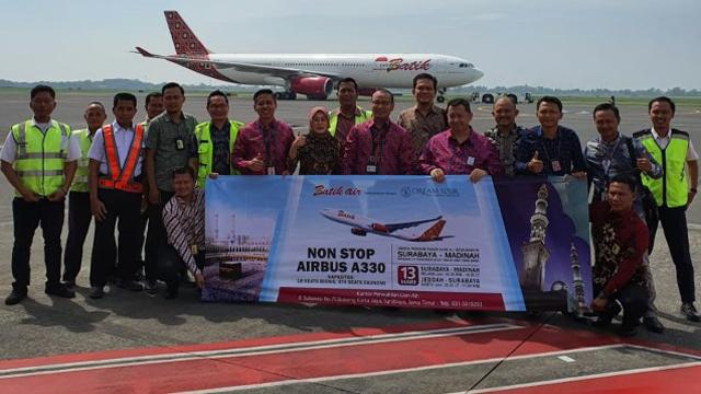 Batik Air Resmi Layani Penerbangan Umrah Surabaya-Madinah