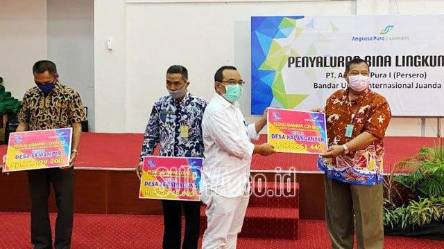 Bandara Juanda Salurkan Bantuan Sembako & Masker - surabaya.tribunnews.com