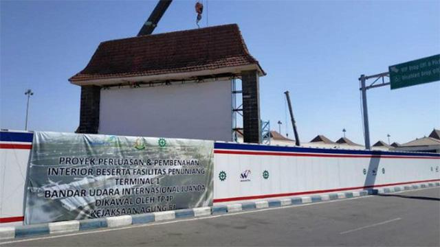 Proyek perluasan & pembenahan Interior beserta fasilitas penunjang Terminal 1 Bandara Juanda